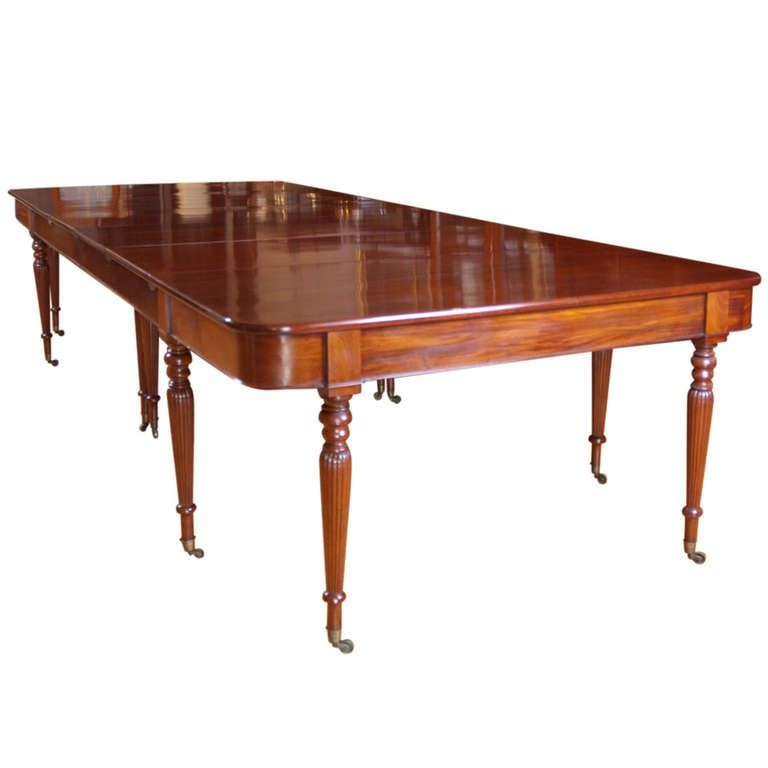 English Sheraton Banquet Extension Dining Table In Mahogany C 1810