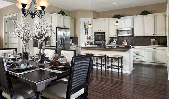 Anika Den Kitchen Cherry Neighborhood At Copperleaf Richmond American Homes Aurora Co