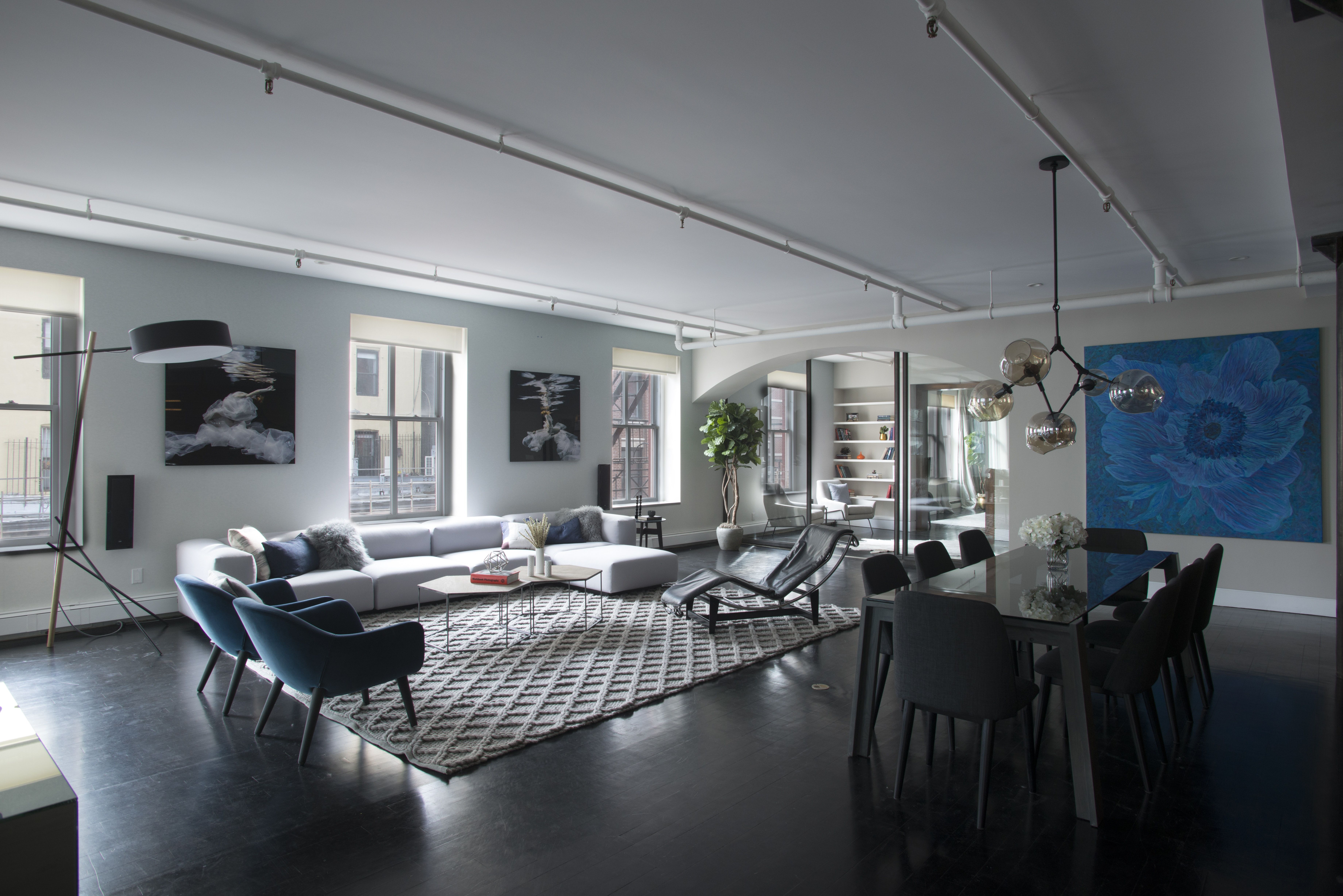Soho Loft Modern Living Dining Space