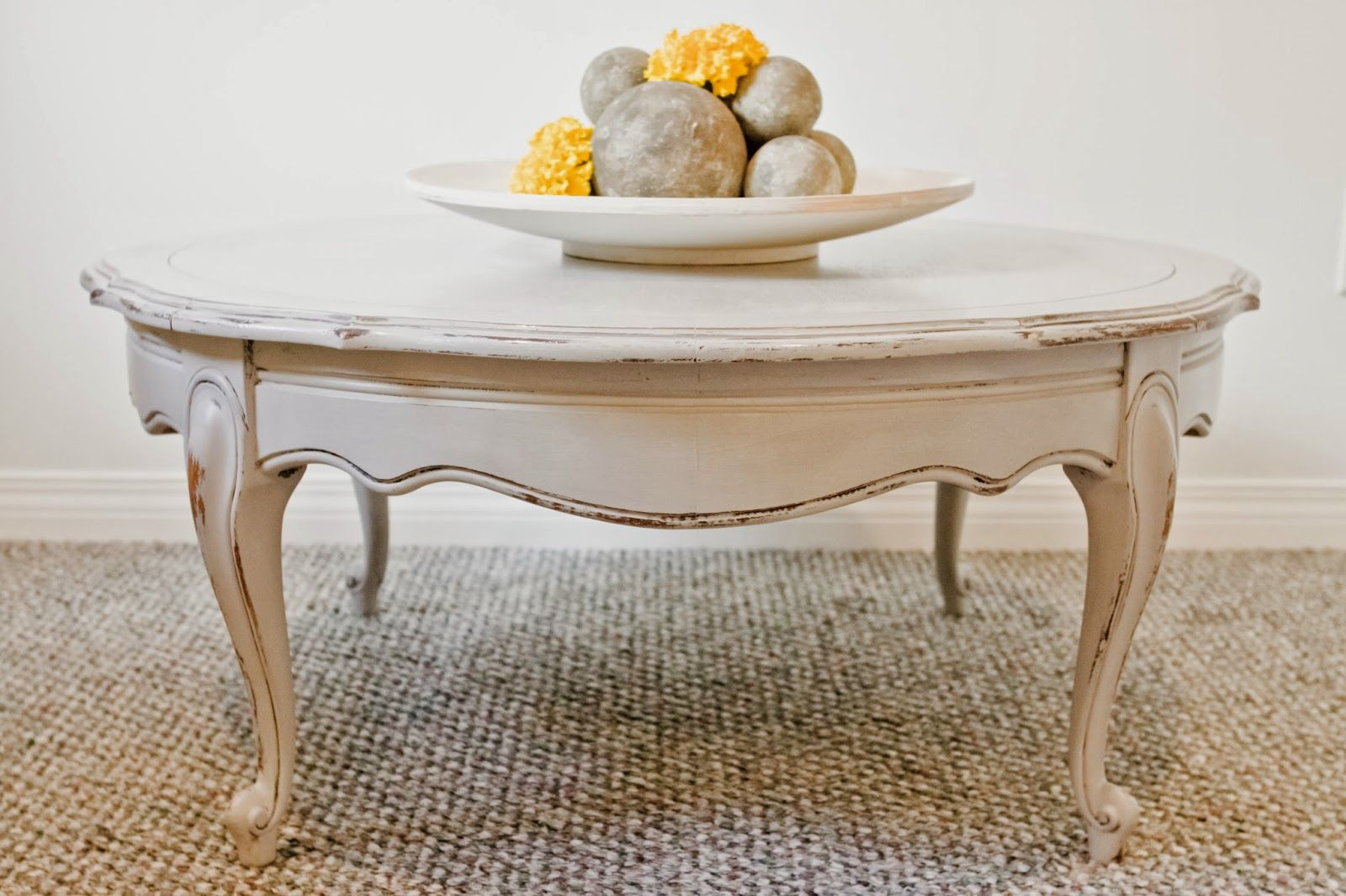 Round French Provincial Coffee Table Shabby Chic Coffee Table