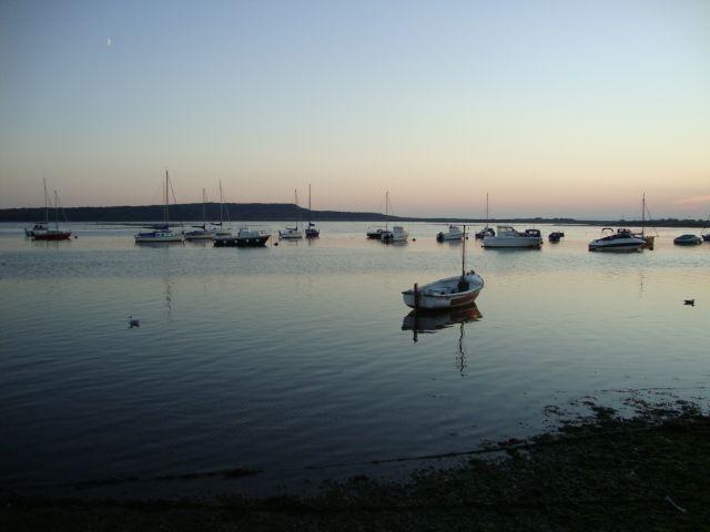 Harbour at dusk (Mudeford)
