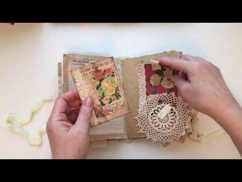 Miss Nellie Guest Dt Project For Ephemera S Vintage Garden Youtube Vintage Journal