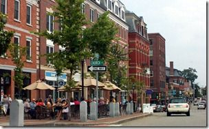 Portsmouth Nh Shopping >> Downtown Portsmouth Nh Congress Street Outdoor Cafes And Great