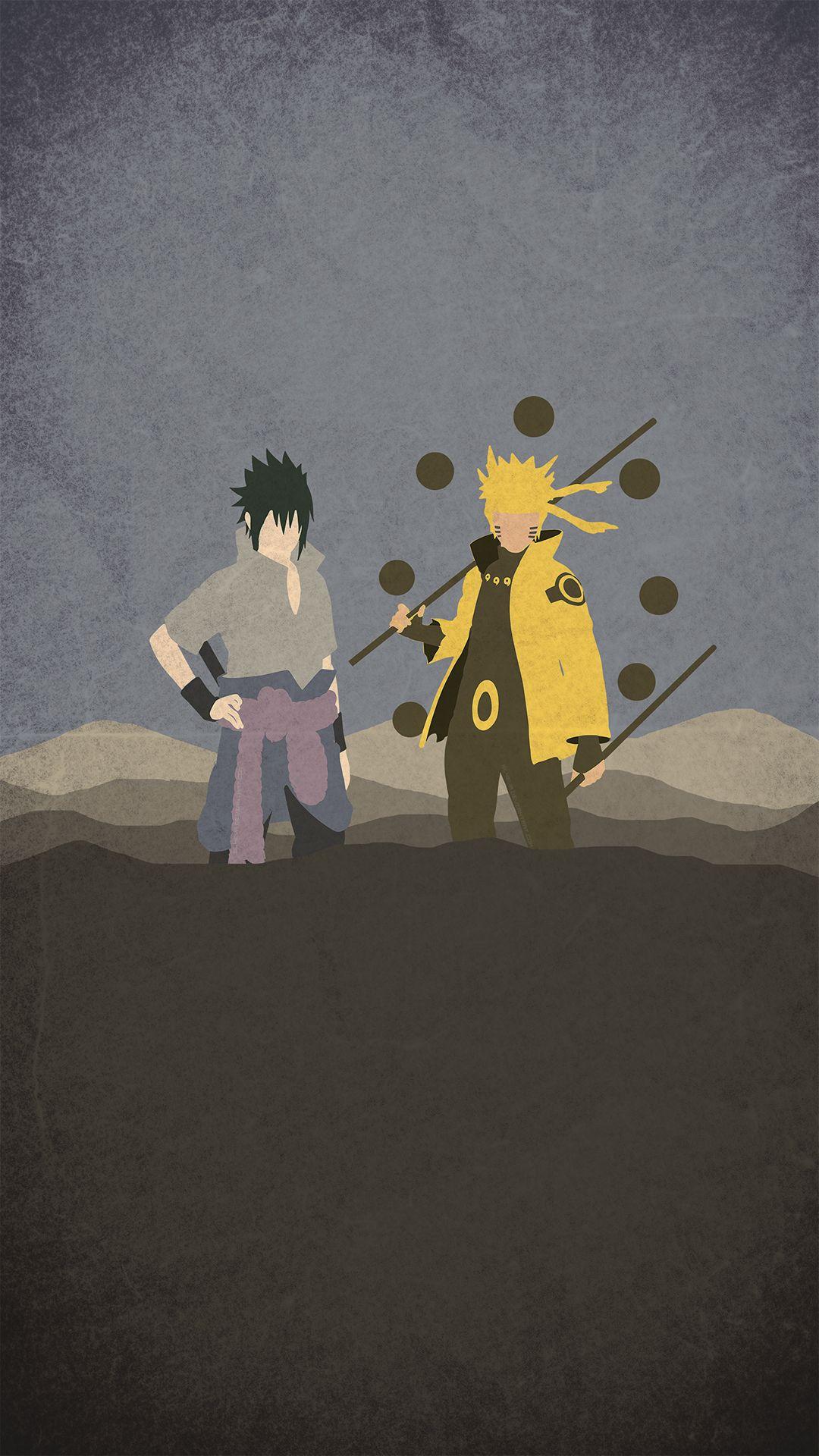 Naruto And Sasuke Minimal Naruto Vs Sasuke Anime Naruto Naruto