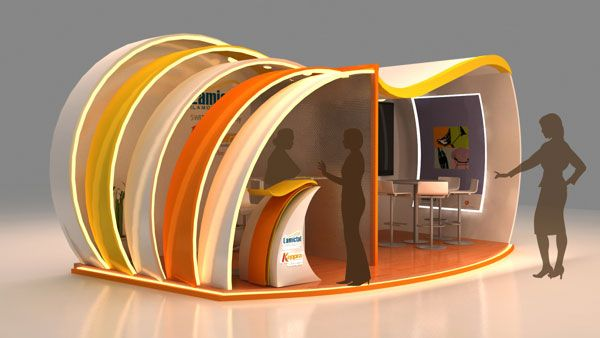 Expo Stands Kioska : Exhibition design for medicine company innovative d