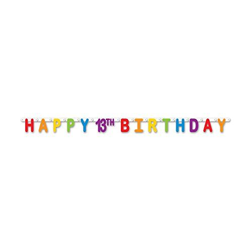 Beistle 5985913 Happy 13th Birthday Streamer 425 x 5 6 Multicolor ** See this great product.