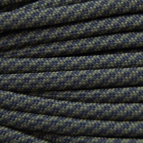 50ft Type III Black /& White Camo Paracord 550 Parachute Cord 7 Strand Made in...