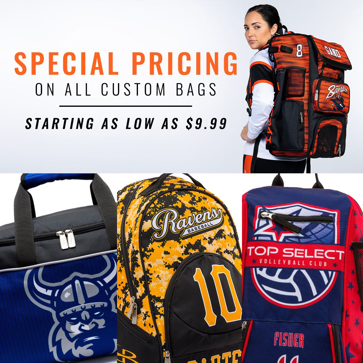 Pin By Boombah On Football Gear Custom Bags Volleyball Gear Football Gear