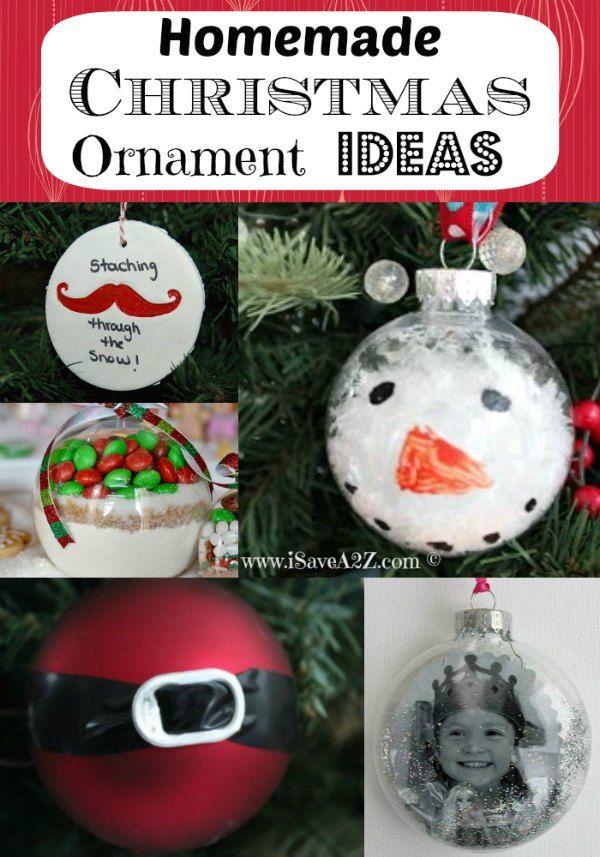 Homemade Christmas Ornament Ideas - Love These Simple Ideas