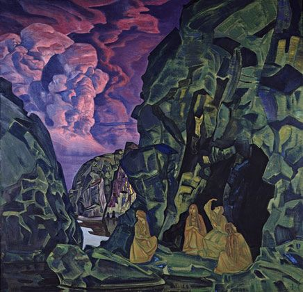 Roerich Paintings | roerich completion date 1919 style symbolism genre genre painting ...
