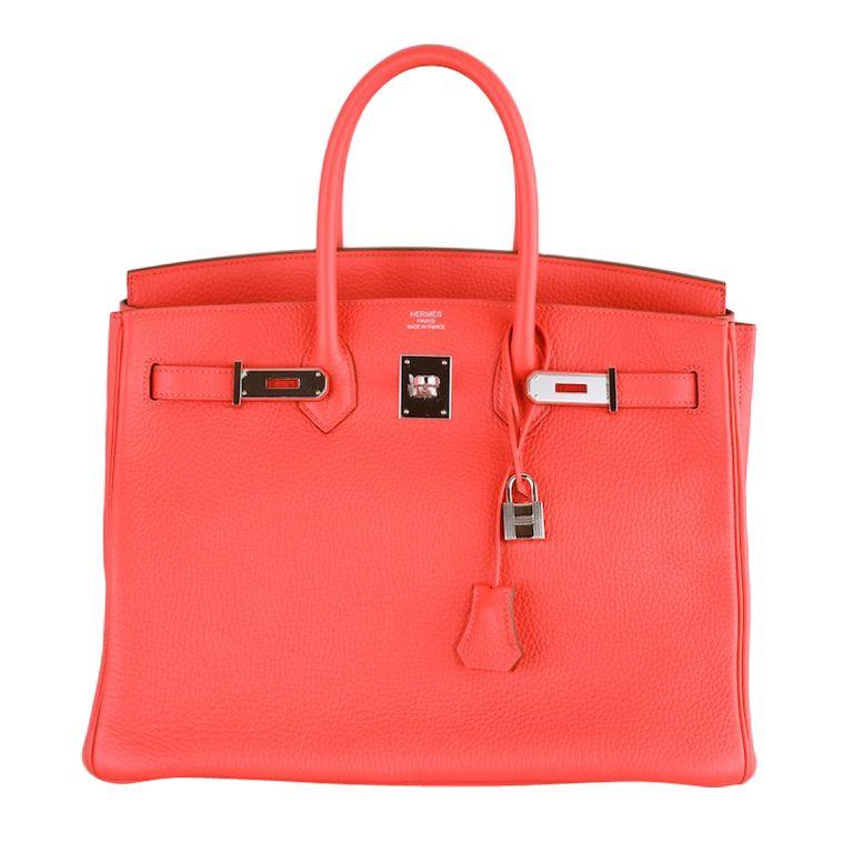 995ae57b56d Hermes birkin bag 35cm rose jaipur palladium hardware amazing ...