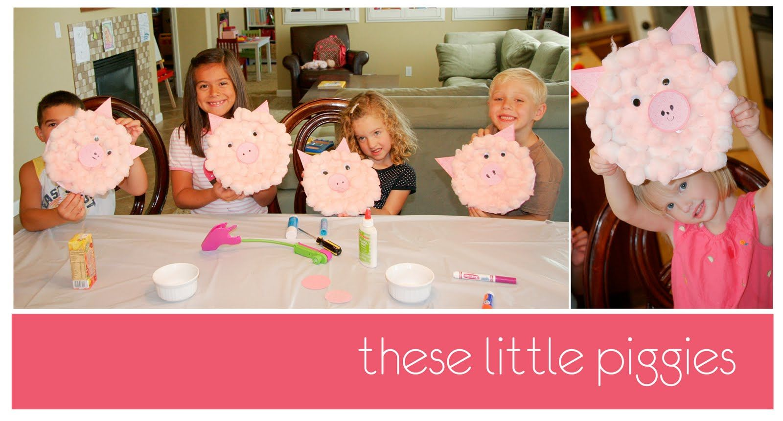A Bushel and a Peck of FUN: Craft Club - Pigs