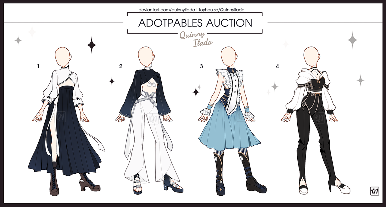 Adopt Auction] Fantasy Outfits 7 [ OPEN ] by QuinnyIlada