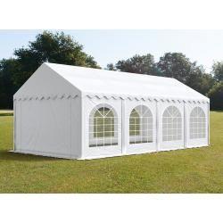 Photo of Carpa para fiestas de 4×8 m, lona de pvc de 500 g / m², con marco de piso, carpa de jardín blanca a prueba de fuego, carpa, pavillo