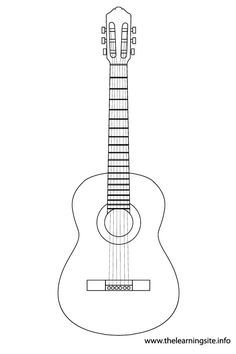 guitar template google search quilting pinterest beginners