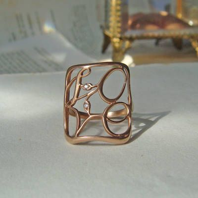 Nora Kogan Jewelry st kilda collection Love Ring in rose gold