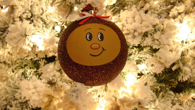 Large 4 ohio state buckeye christmas tree ornament osu