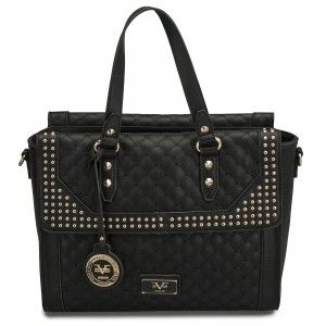 The 19V69 Italia Micro Studded Palazzo Tote is classy with an edge ... a7dda37a4666a