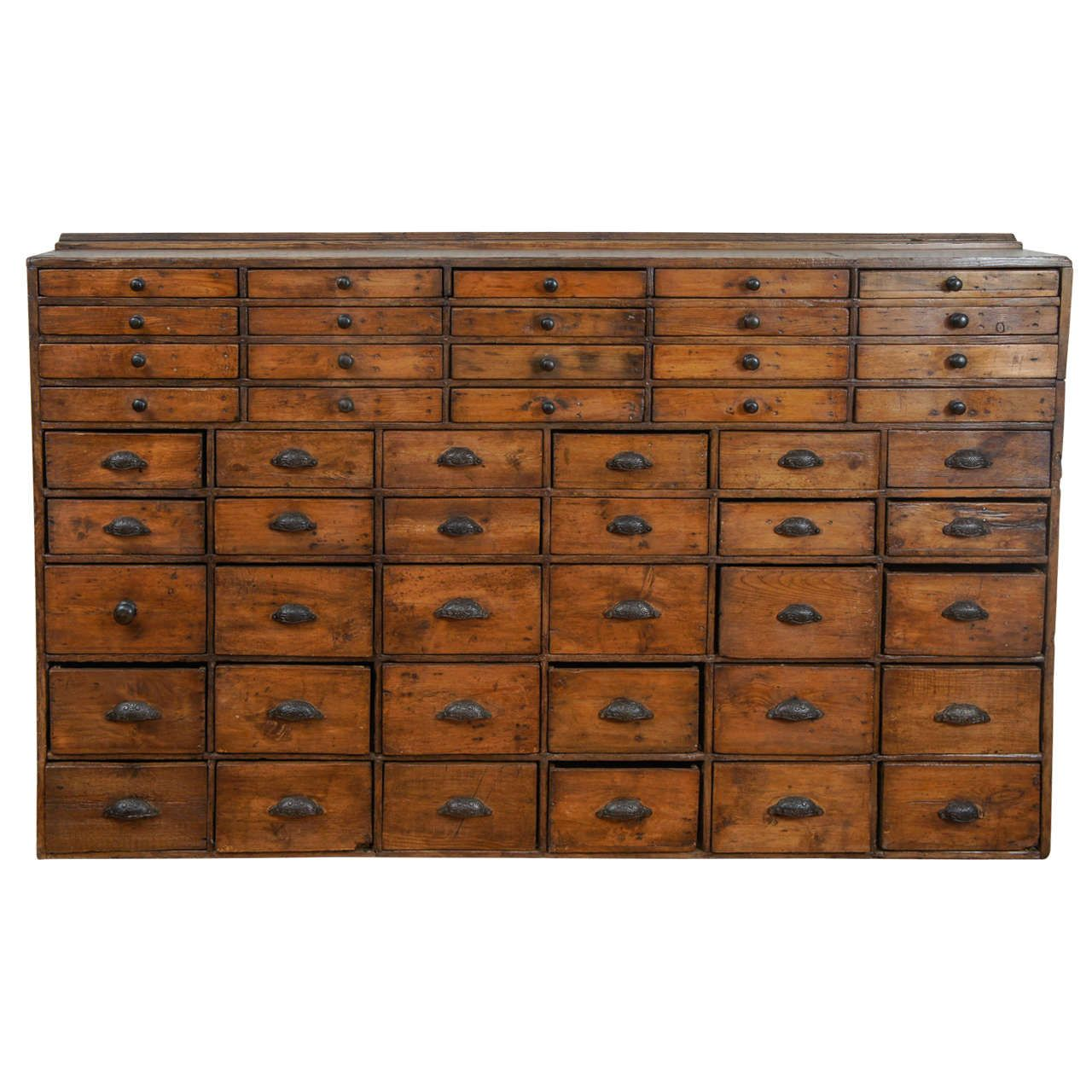 50 Drawer Pharmacy Apothecary 1stdibs Com Apothecary Cabinet