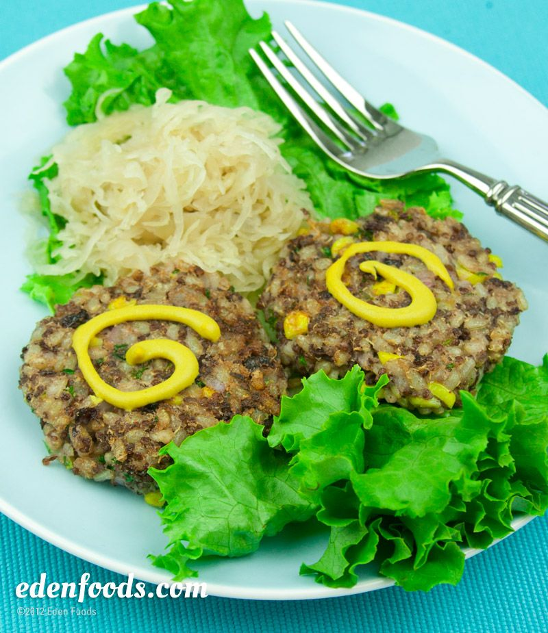 Brown Rice & Red Quinoa Burgers