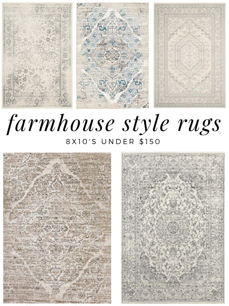 I love farmhouse style rugs all tattered looking and gorgeous What I do not love is how expensive area rugs can be I found 7 8x10 area rugs all with a vintage distressed...