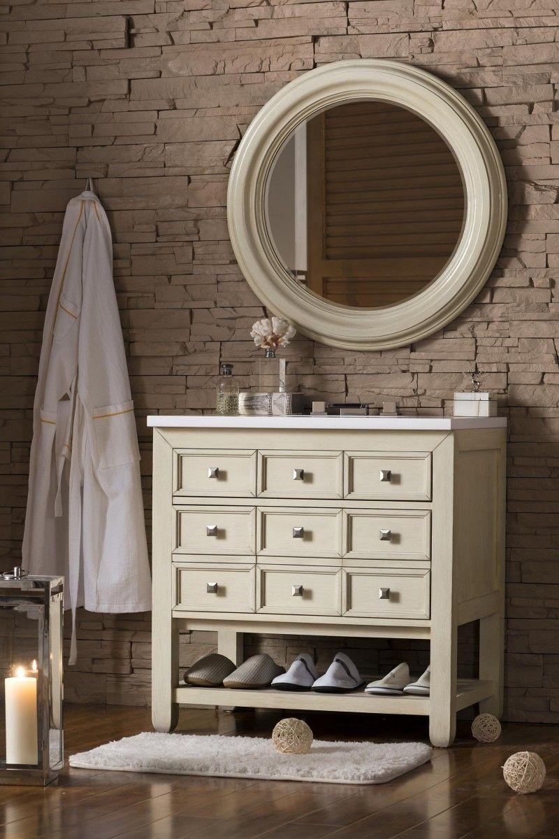 34 Inch Bathroom Vanity: 33 Inch Bathroom Vanity Vanilla Oak Finish With Snow White