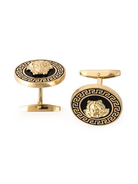 e8b9644b8f6a VERSACE laquered Medusa cufflinks.  versace  cufflinks