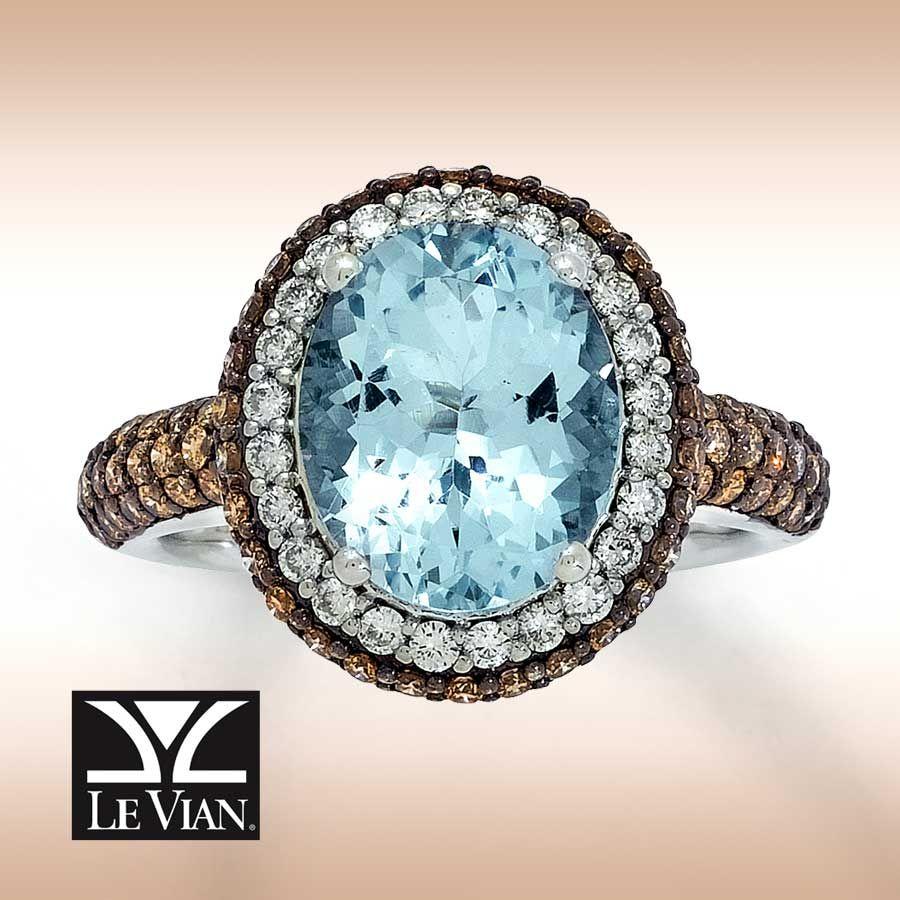 aquamarine and chocolate diamond rings | Jared - ***Le Vian ...