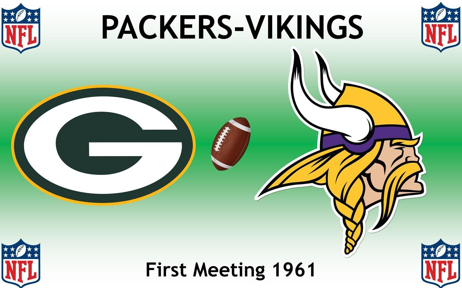 1961 National Football League 1st Packers Vikings Green Bay Packers Minnesota Vikings Packers Football Rivalries National Football League Nfl Packers