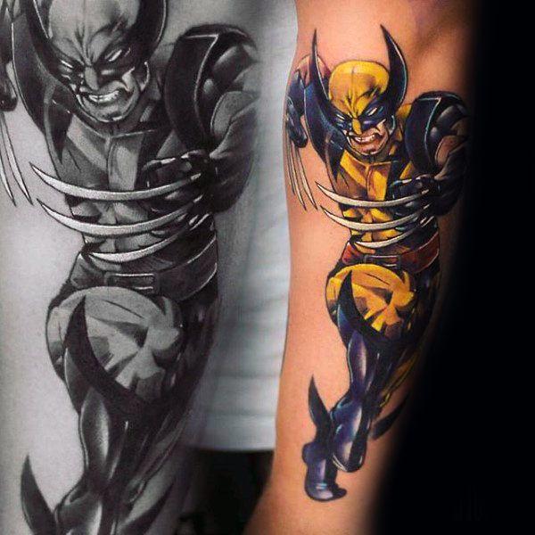90 Wolverine Tattoo Designs For Men X Men Ink Ideas Art