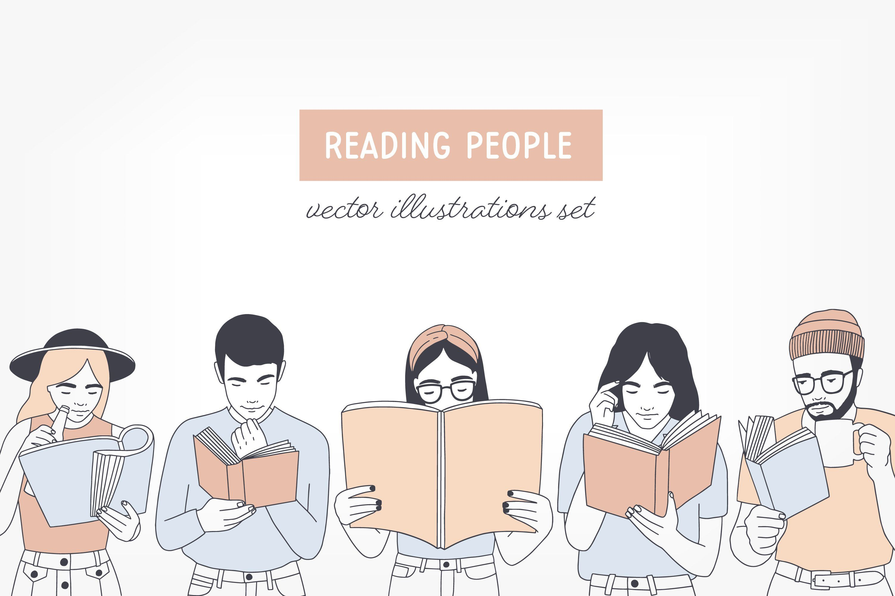 People Reading Books Reading Books Illustration How To Read People Books To Read For Women