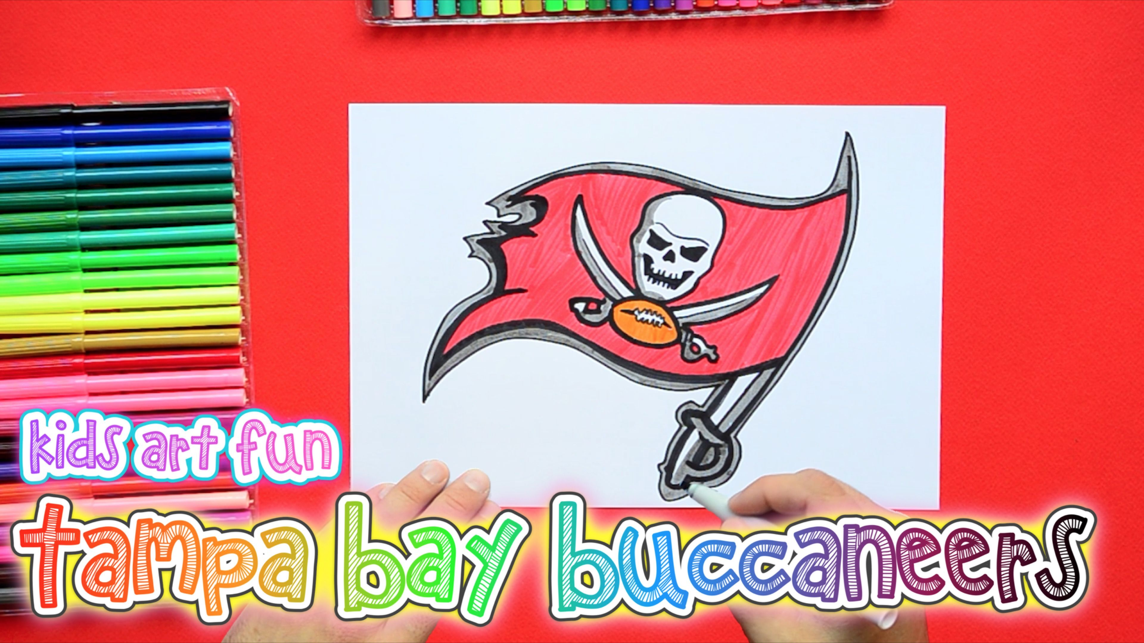 How To Draw And Color The Tampa Bay Buccaneers Logo Nfl Team Series Tampa Bay Buccaneers Tampa Bay Buccaneers Logo Tampa Bay
