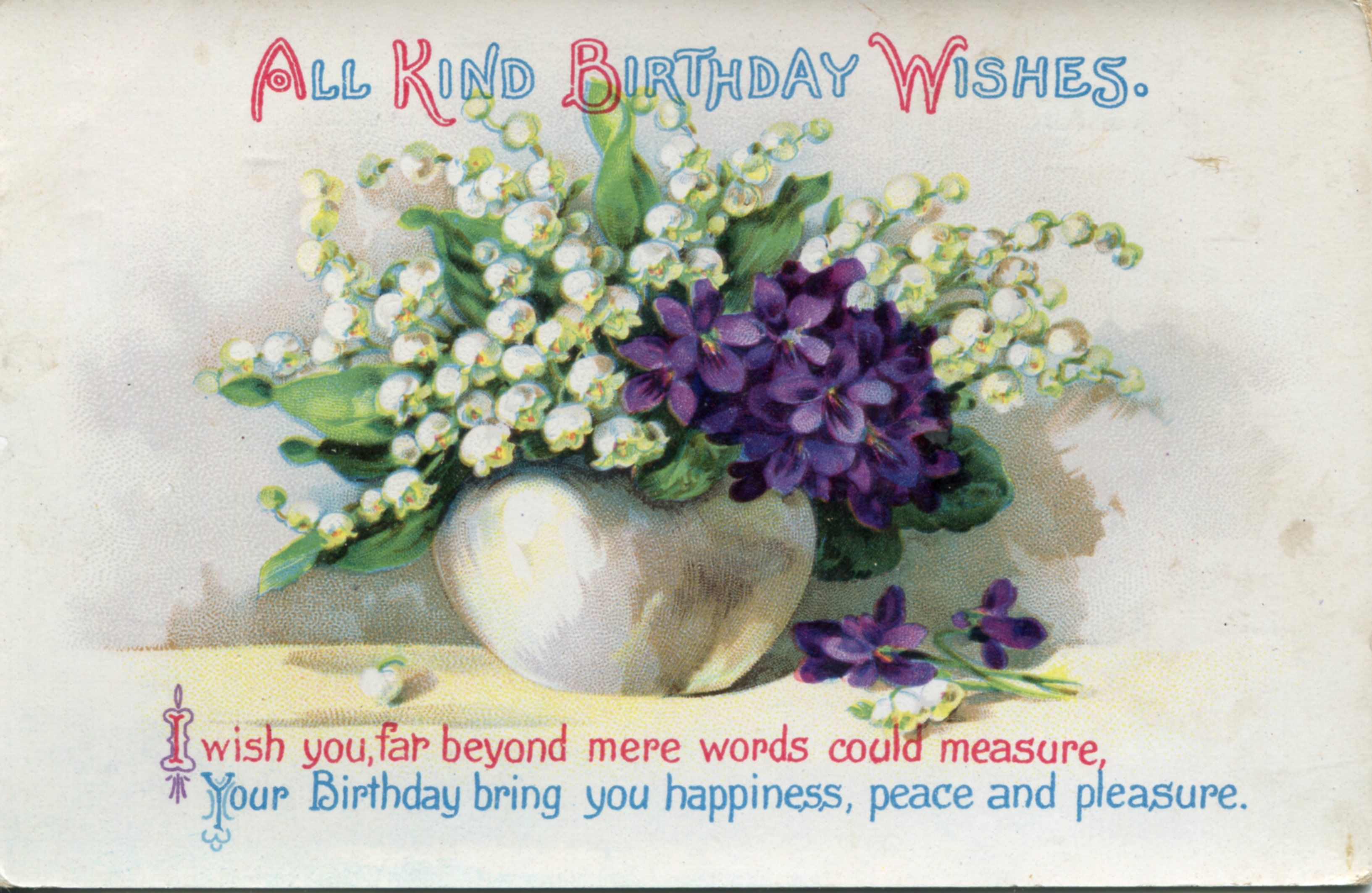 Vintage Flowers Birthday Cards ~ Old postcards yahoo image search results hartelijk