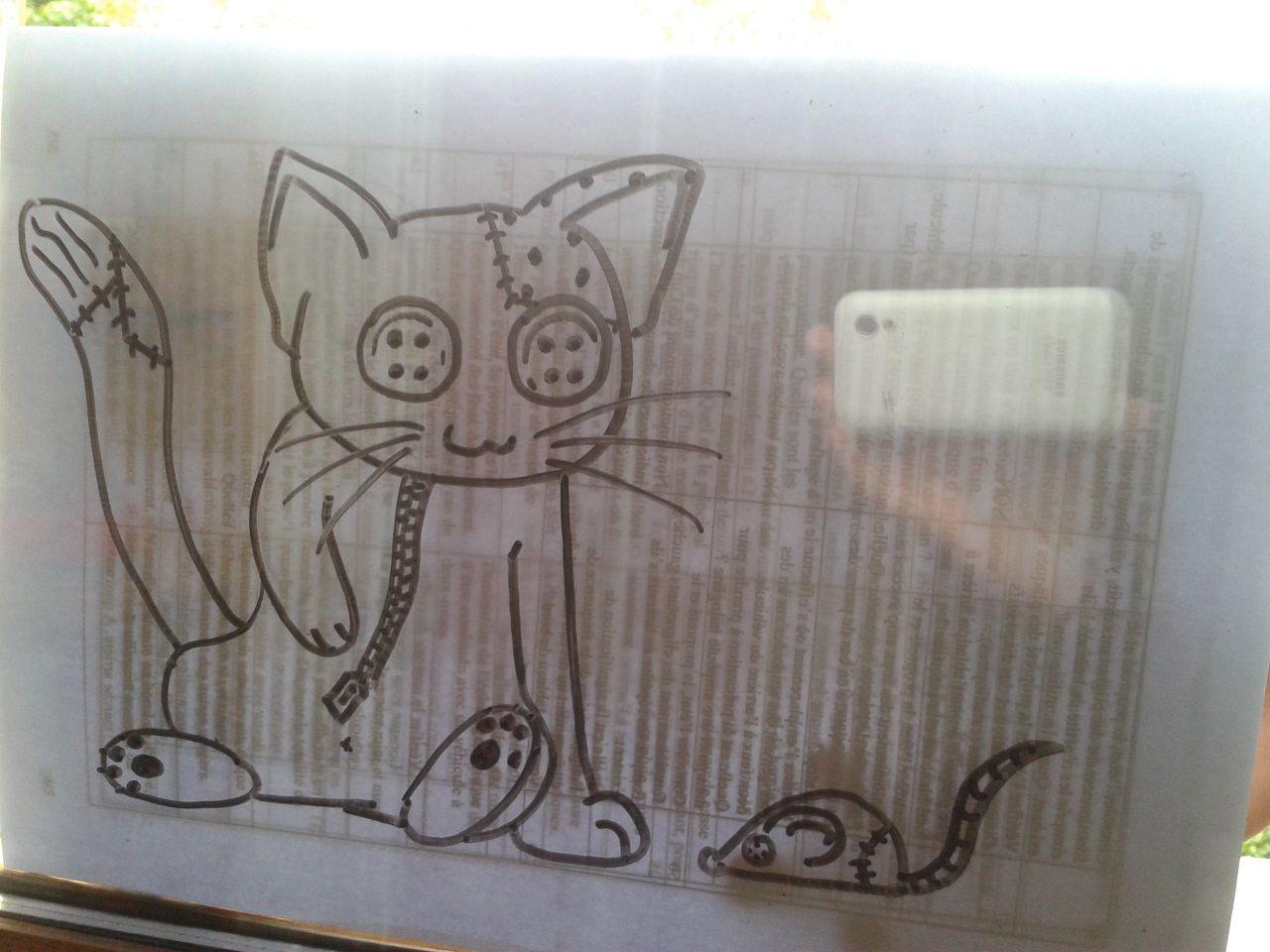 dessin sur vitre