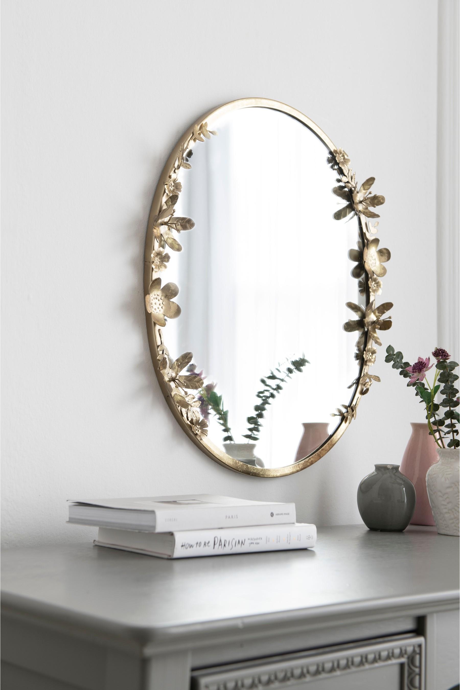 Buy Floral Mirror from Next Malta | Floral mirror, Flower ...