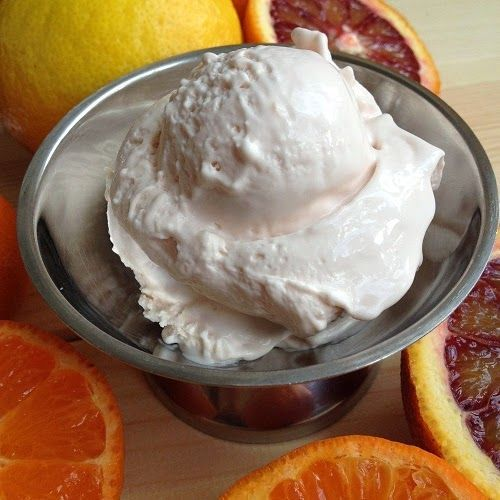 Photo of Milkmaid mascarpone ice cream with citrus fruits (Greenway36 the food blog with # …