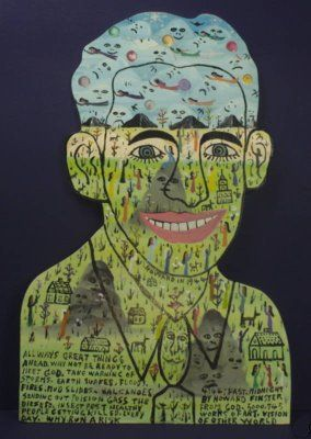 Howard Finster self-portrait