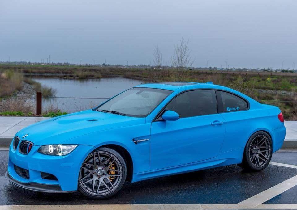 Bmw E92 M3 Blue Bmw Bmw E9 Car Wrap