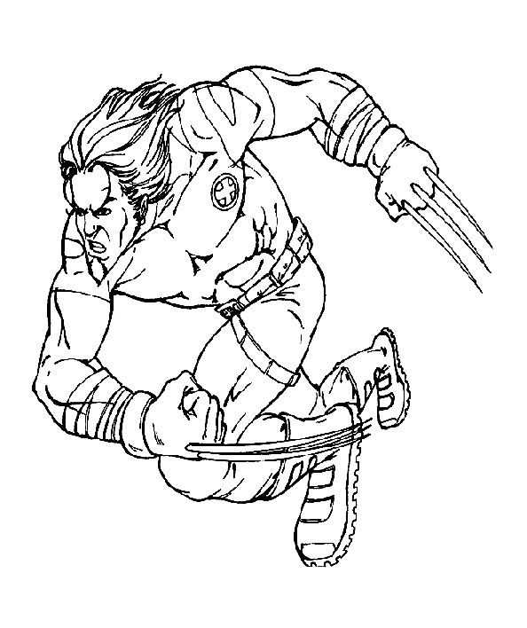 The Wolverine X Men Coloring Pages Cartoon Coloring Pages Superhero Coloring Pages Coloring Pages