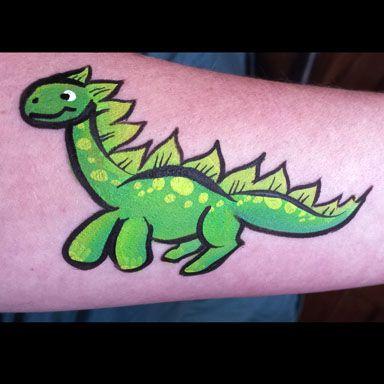 How to paint a Super Cute Green Dinosaur