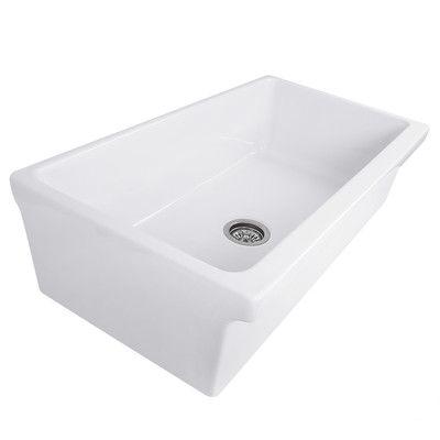 "Nantucket Sinks Cape Decorative Apron  36"" x 20"" Single Farmhouse Kitchen Sink"
