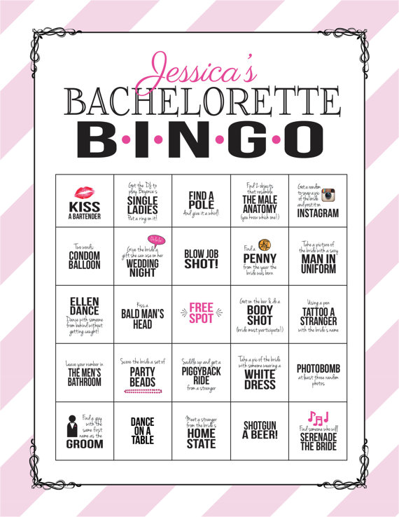 Bachelorette party game bingo dare sheet digital file print it bachelorette party game bingo dare sheet customize and print it yourself solutioingenieria Image collections