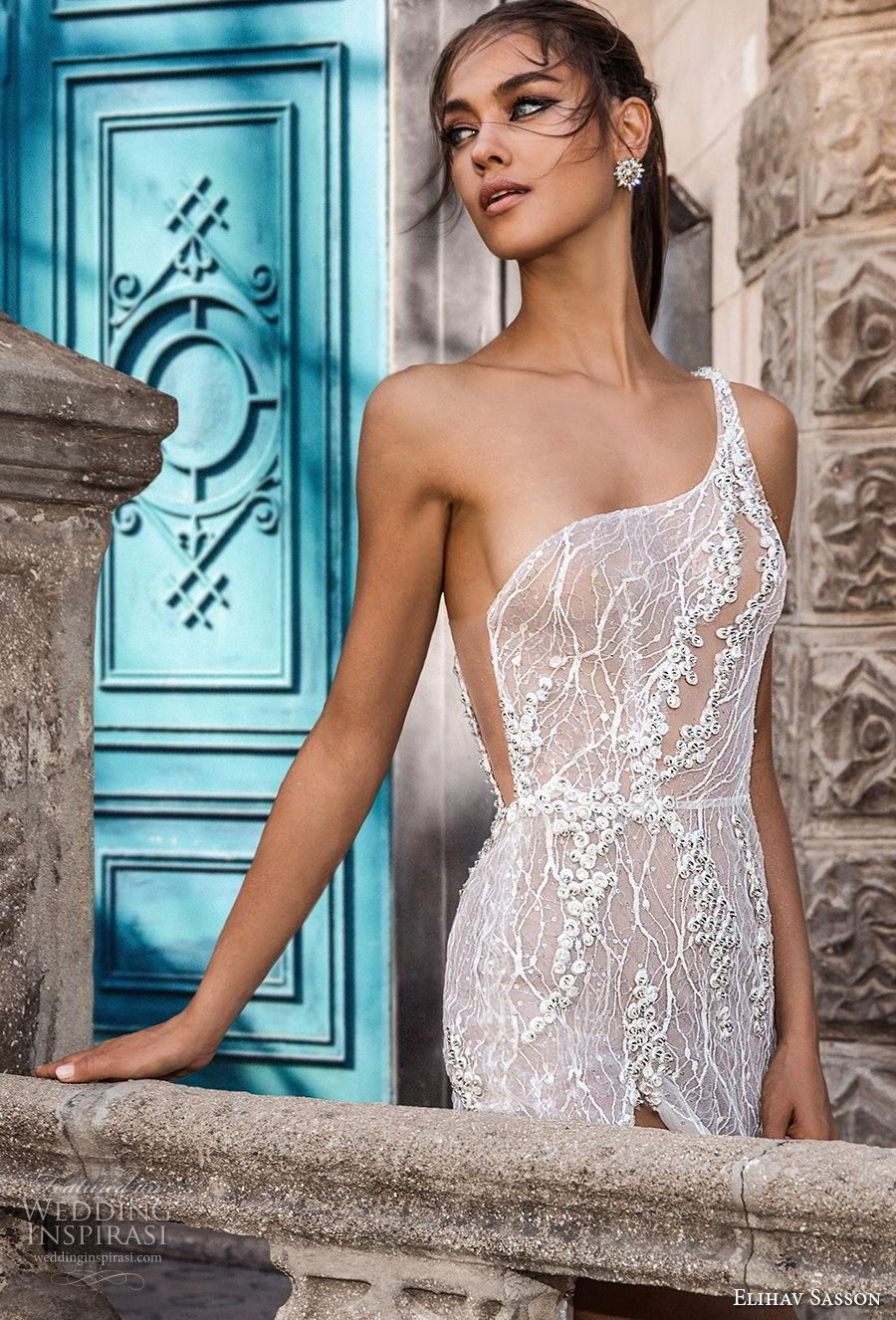 Elihav sasson capsule bridal sleeveless one shoulder full
