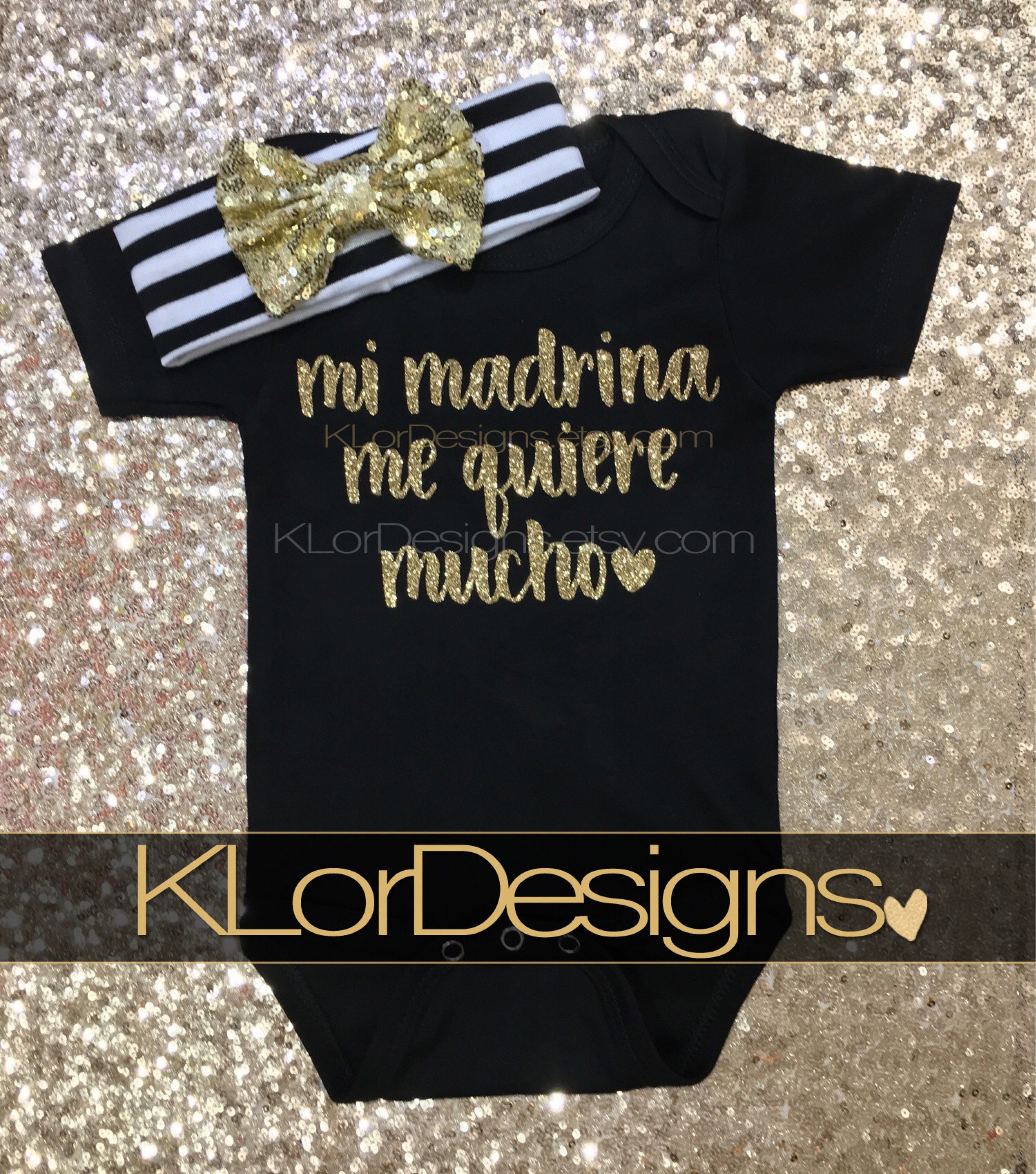 Mi Madrina me quiere Spanish baby clothing Godmother Loves Me