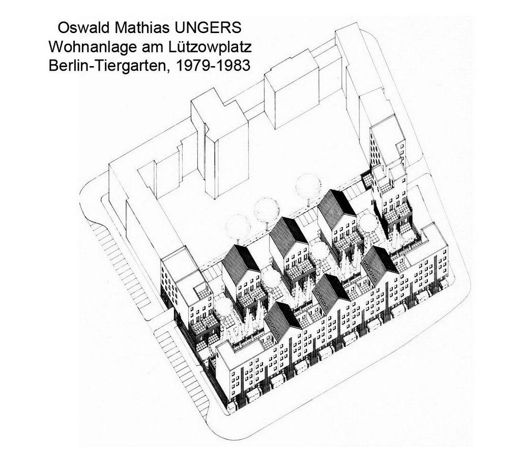 Oswald mathias ungers wohnanlage am lützowplatz berlin tiergarten demolito