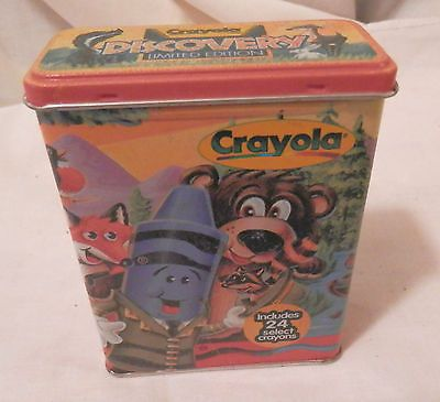 Vintage Limited Edition Discovery Crayola Tin w/ 24 Crayons 2000