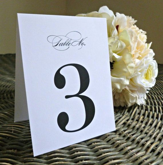 Table Number - Wedding, Rehearsal, Dinner - Table Names, Tented, Flat, Frame, Number, Table - Elegant, Script