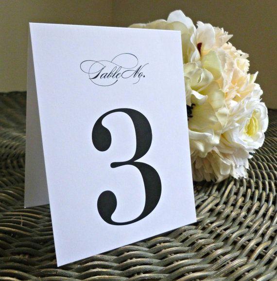Table Number - Wedding, Rehearsal, Dinner - Table Names, Tented, Flat, Frame, Number, Table - Elegant, Script