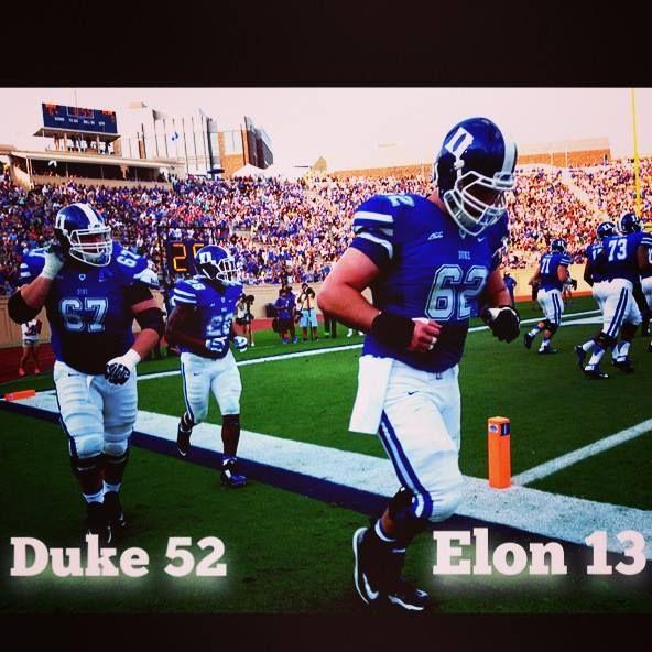 Duke Football Wins Its Season Opener 52 13 Goduke Duke Seasons Duke University