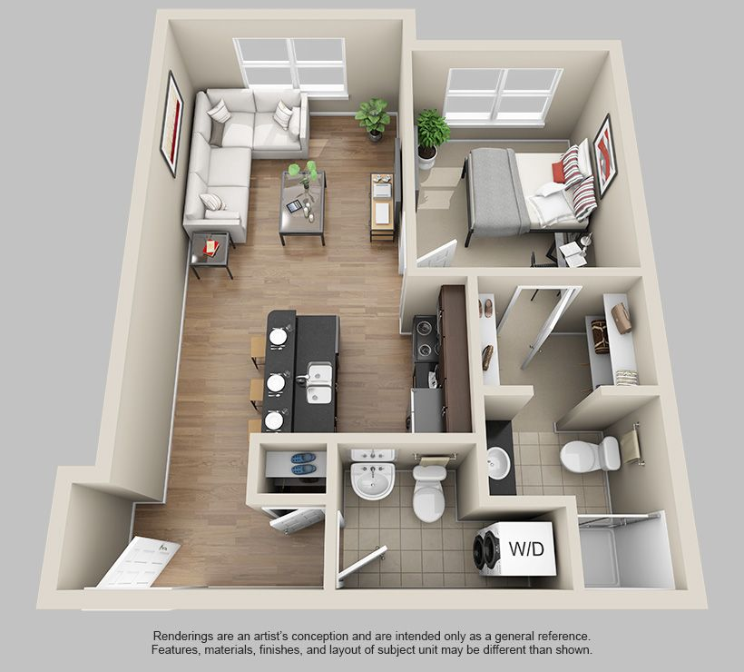 Apartments Rising Near Vista Hermosa Park: 3d Floor Plan Apartment - Google Search